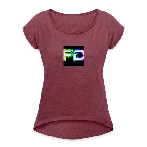 Fares destroyer official merchandise - Women's Roll Cuff T-Shirt