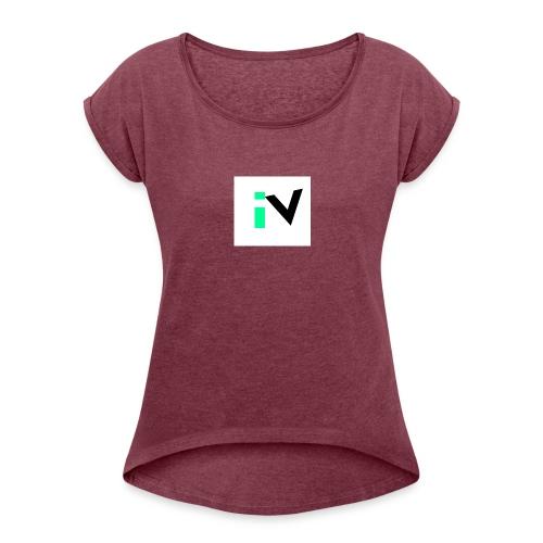 Isaac Velarde merch - Women's Roll Cuff T-Shirt