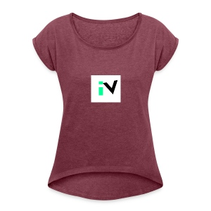 Isaac Velarde merch - Women's Roll Cuff T-Shirt