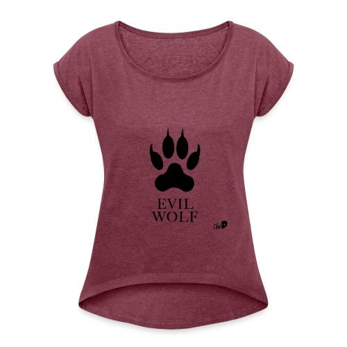 Der Evil Wolf - Women's Roll Cuff T-Shirt