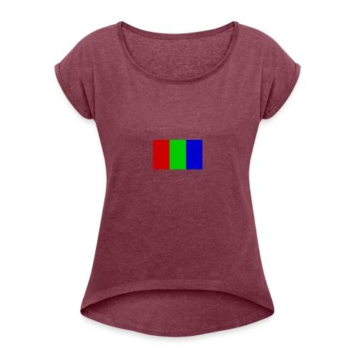 Dum Dums Flag - Women's Roll Cuff T-Shirt