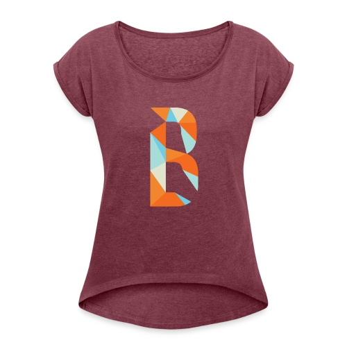 Simple Tee B - Women's Roll Cuff T-Shirt