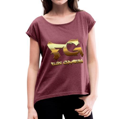 FG Logo - Women's Roll Cuff T-Shirt