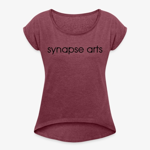 synapse logo gray - Women's Roll Cuff T-Shirt
