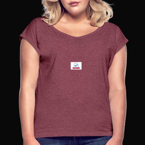 Bacchanal & Water - Women's Roll Cuff T-Shirt