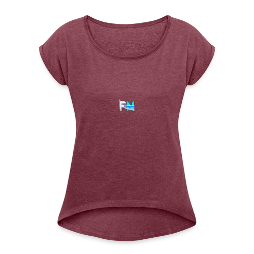 Futuristic Networks - Women's Roll Cuff T-Shirt