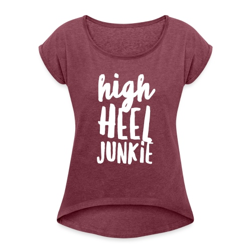 HHJ-White - Women's Roll Cuff T-Shirt