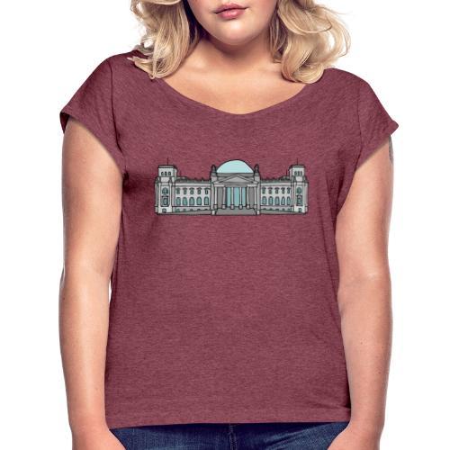 Reichstag building Berlin - Women's Roll Cuff T-Shirt