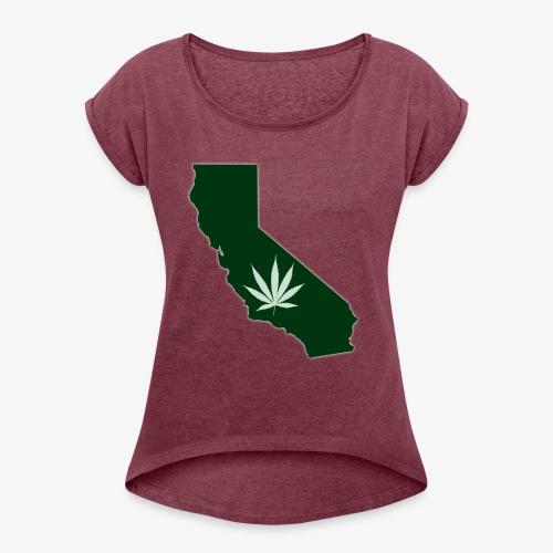 weed - Women's Roll Cuff T-Shirt
