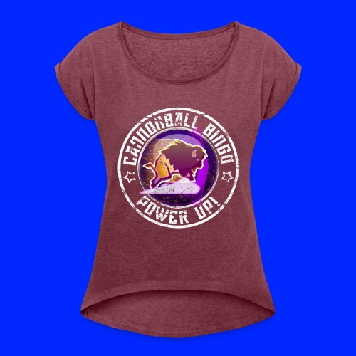 Vintage Stampede Power-Up Tee - Women's Roll Cuff T-Shirt