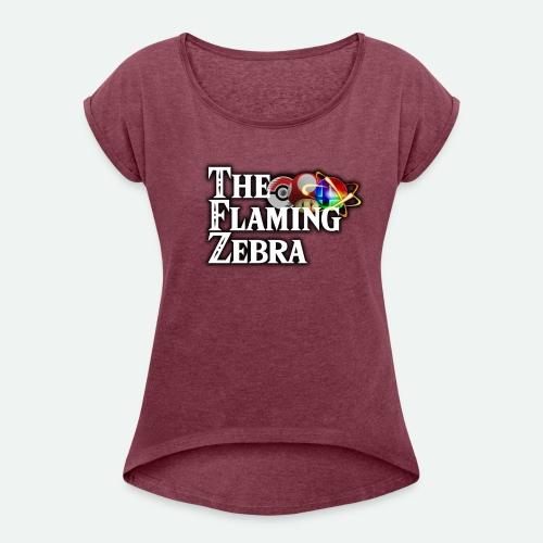 TFZ Big LOGO - Women's Roll Cuff T-Shirt