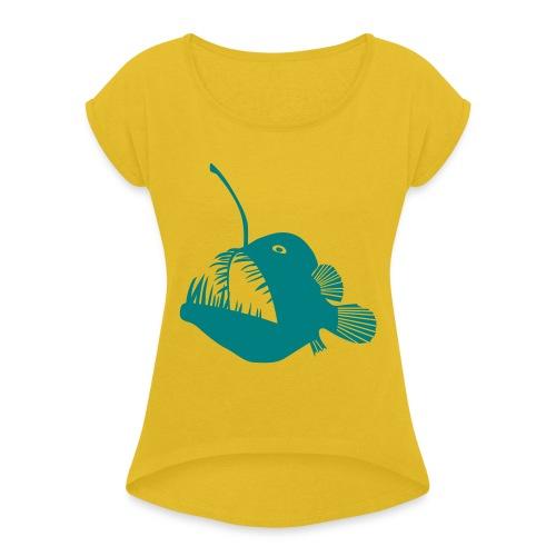 anglerfish frogfish sea devil deep sea angler - Women's Roll Cuff T-Shirt