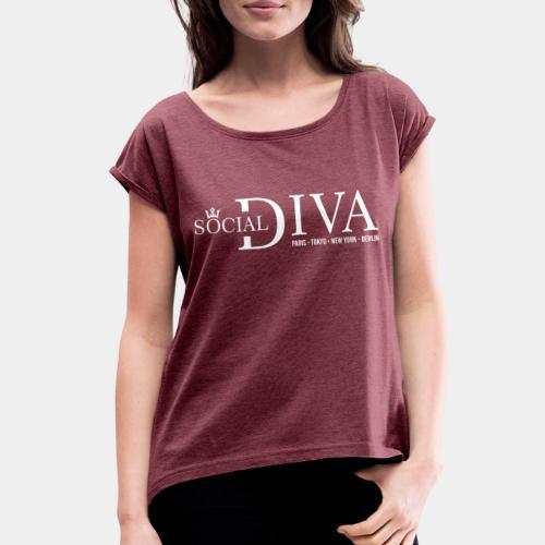 social diva fashion - Women's Roll Cuff T-Shirt