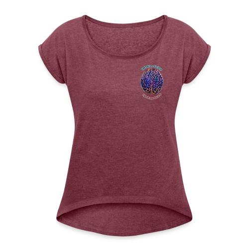 IntellTuss Shirt (pocket design) - Women's Roll Cuff T-Shirt