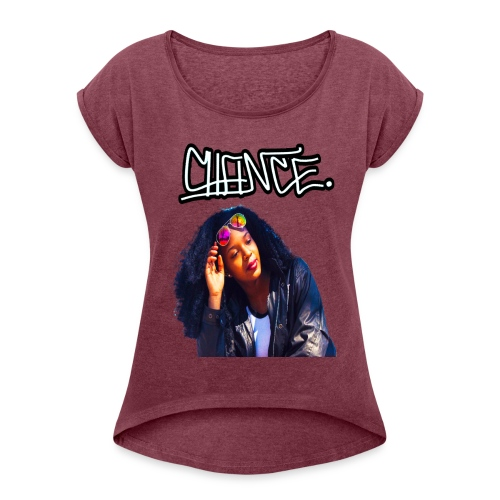 Chance Portrait - LIMITED EDITION - JMMS RECORDS - Women's Roll Cuff T-Shirt