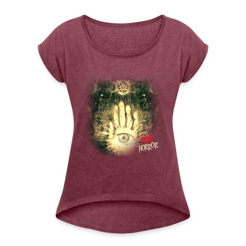 Rare Horror Occult - Women's Roll Cuff T-Shirt