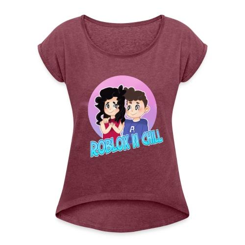 Pastel Roblox N Chill - Women's Roll Cuff T-Shirt