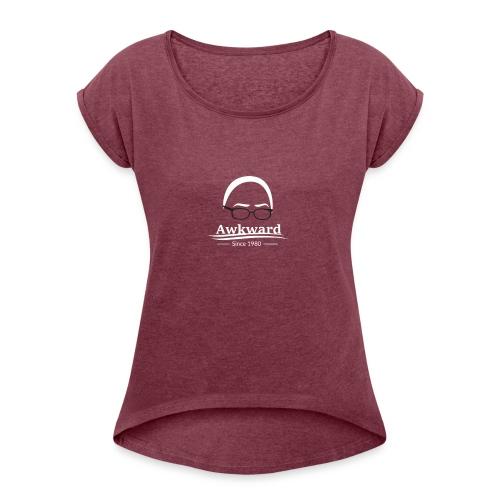 Awkward YouTube - Women's Roll Cuff T-Shirt