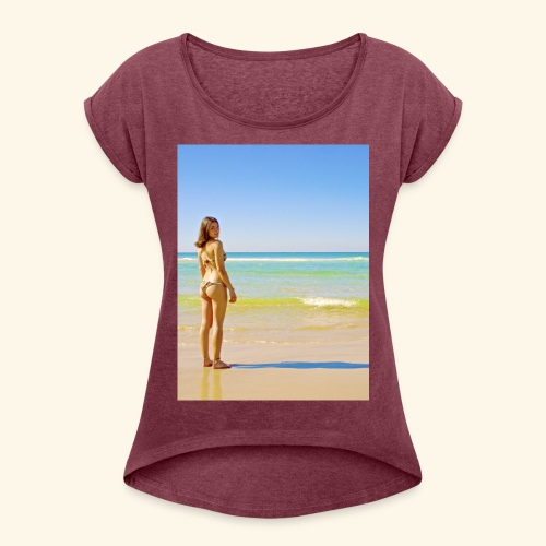model - Women's Roll Cuff T-Shirt