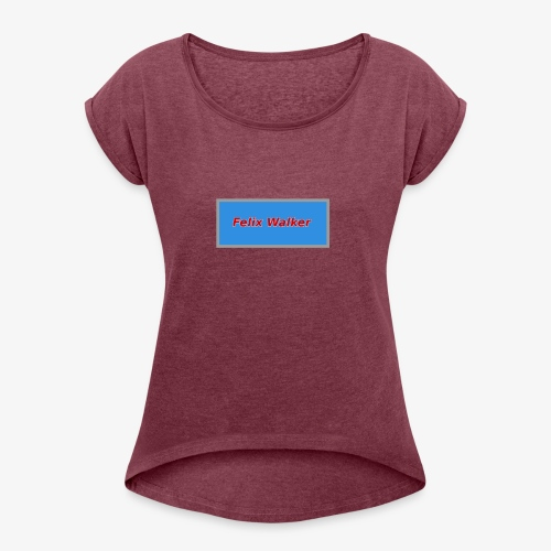 Felix Walker square logo - Women's Roll Cuff T-Shirt