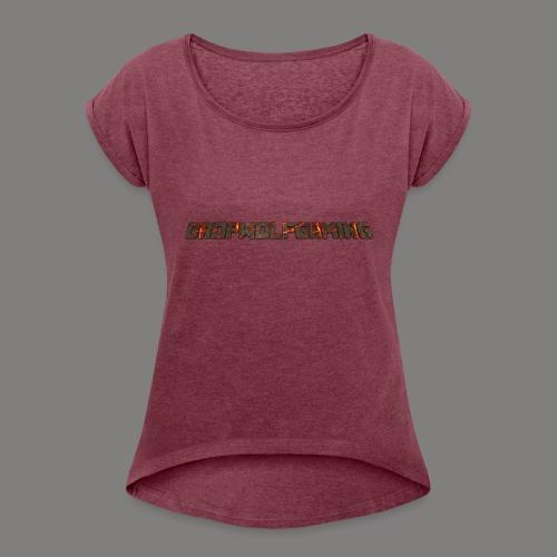 DropWolfGaming - Women's Roll Cuff T-Shirt