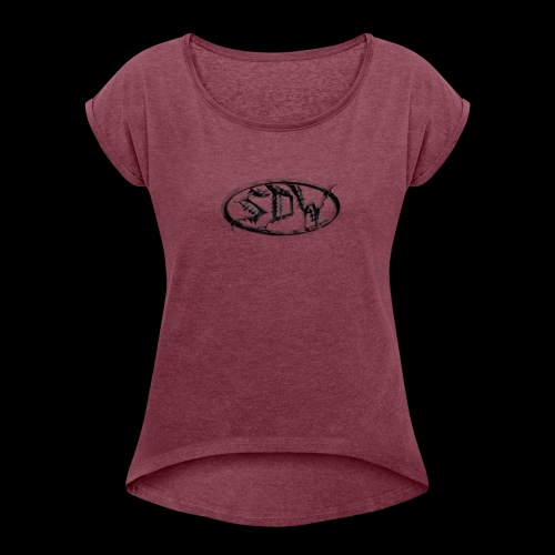 SDW Logo - Women's Roll Cuff T-Shirt