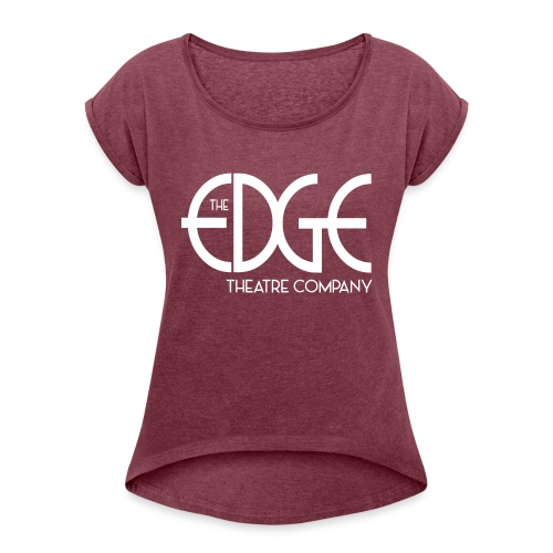 logo_white - Women's Roll Cuff T-Shirt
