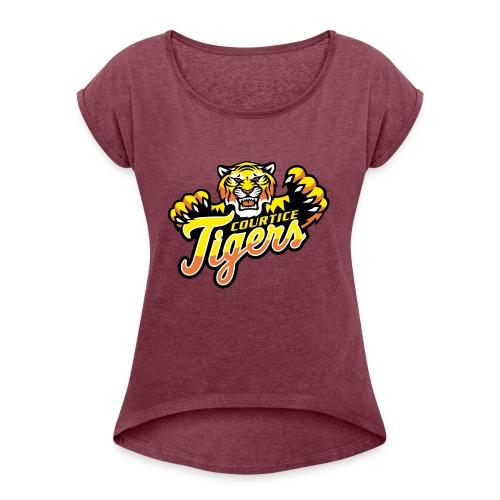 Courtice FINAL - Women's Roll Cuff T-Shirt