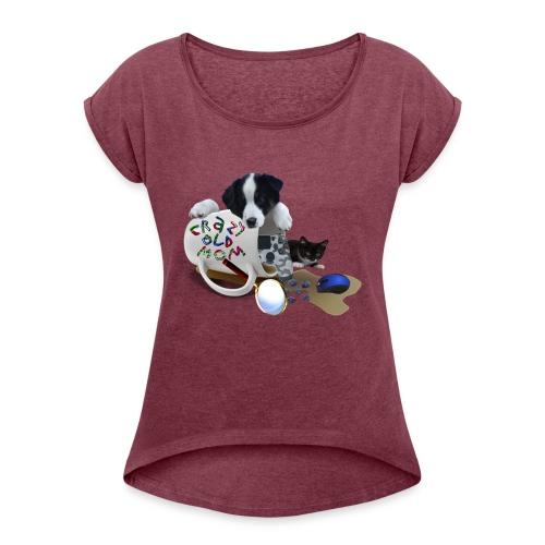 CrazyOldMom Twitch Logo - Women's Roll Cuff T-Shirt
