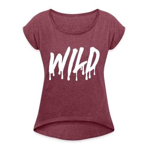 WILDlogosmooth - Women's Roll Cuff T-Shirt