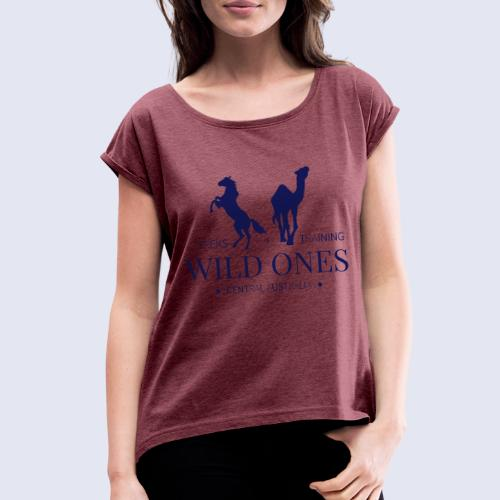 Wild Ones Logo - Women's Roll Cuff T-Shirt