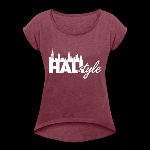 HALIStyle City Skyline - Women's Roll Cuff T-Shirt