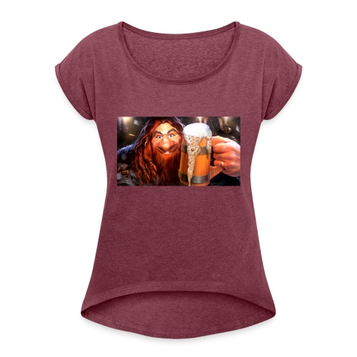 Hearthstone Innkeeper - Women's Roll Cuff T-Shirt