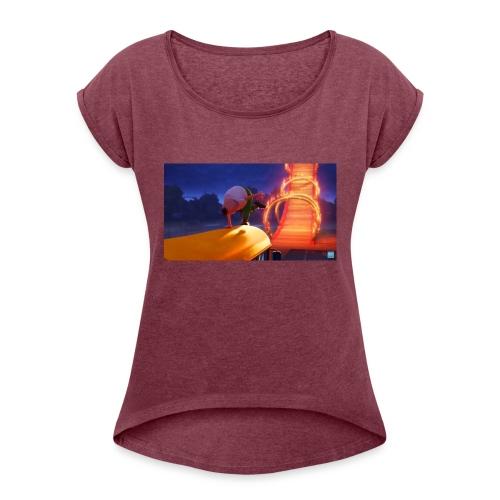 Mr krupp / aptain underpants dresssed - Women's Roll Cuff T-Shirt