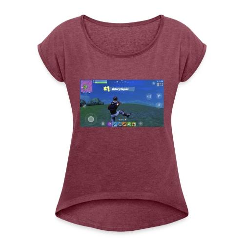 My First Win! - Women's Roll Cuff T-Shirt