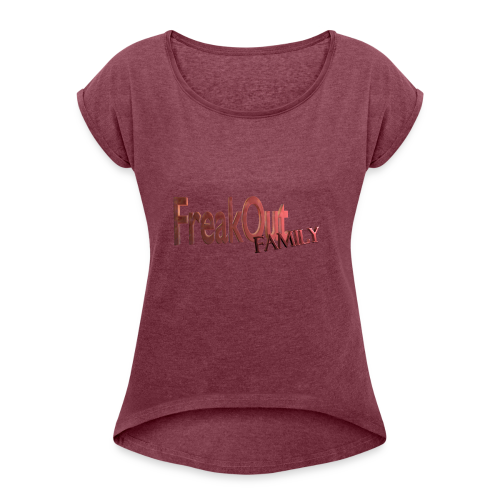FreakOut Family Logo Print - Women's Roll Cuff T-Shirt
