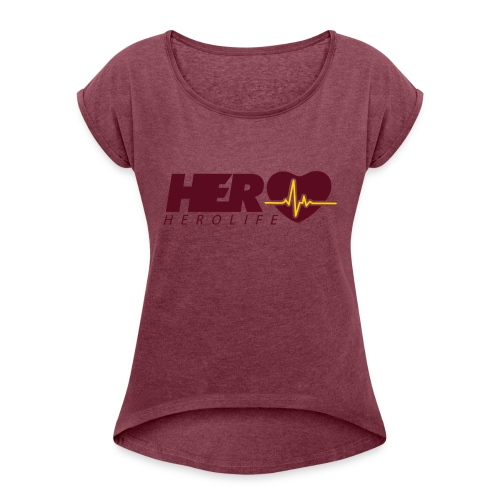 HeroLife Lifeline - Women's Roll Cuff T-Shirt