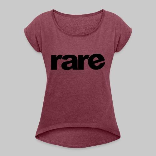 Quality Womens Tshirt 100% Cotton with Rare - Women's Roll Cuff T-Shirt