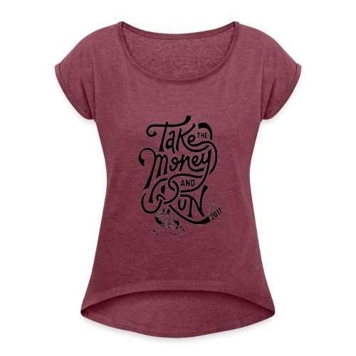 moneybig - Women's Roll Cuff T-Shirt