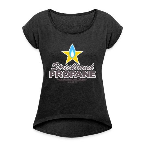 Strickland Propane Mens American Apparel Tee - Women's Roll Cuff T-Shirt