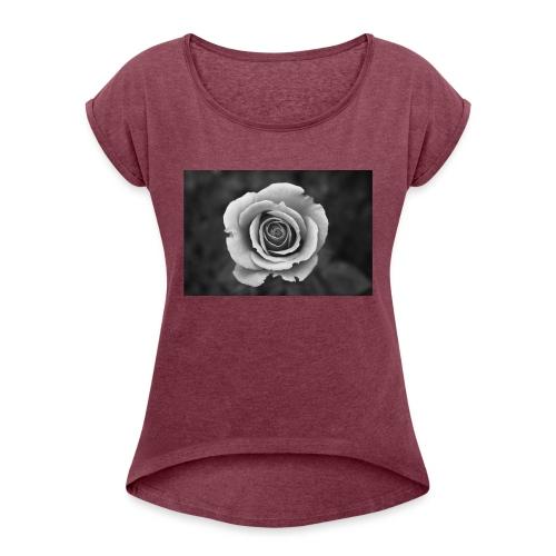 dark rose - Women's Roll Cuff T-Shirt