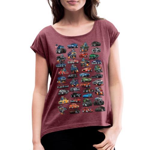 American Hot Rods, Muscle Cars, Pickup Trucks - Women's Roll Cuff T-Shirt