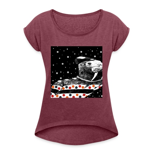 Not so ugly Christmas Tee   Jumper - Women's Roll Cuff T-Shirt