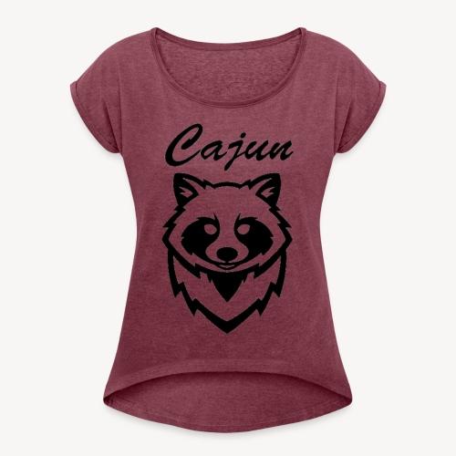 see throw cajun coon icon - Women's Roll Cuff T-Shirt