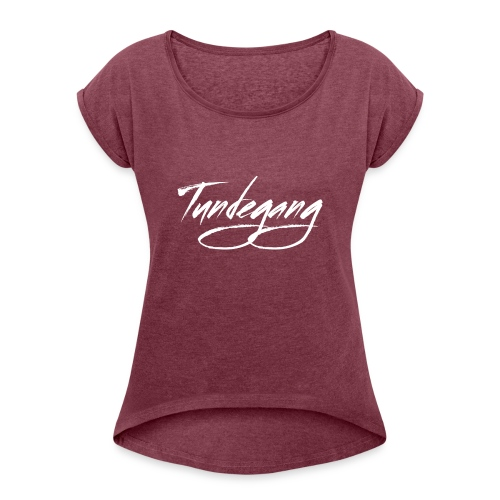 Tundegang Brushstroke - Women's Roll Cuff T-Shirt
