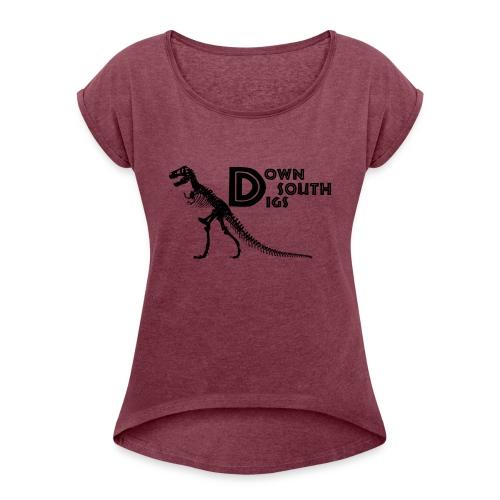 T-Rex Logo - Women's Roll Cuff T-Shirt