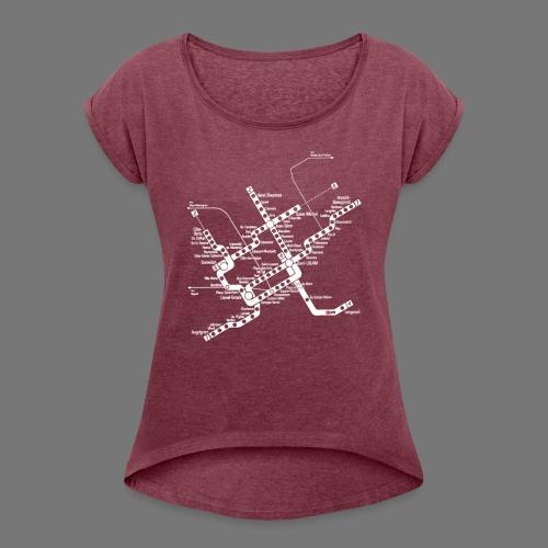 METRO Map - Women's Roll Cuff T-Shirt