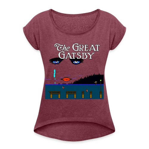 Great Gatsby Game Tri-blend Vintage Tee - Women's Roll Cuff T-Shirt