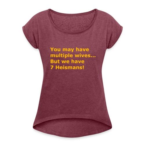 Multiple Wives - Women's Roll Cuff T-Shirt