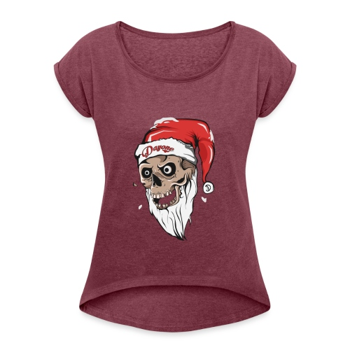 santskull - Women's Roll Cuff T-Shirt